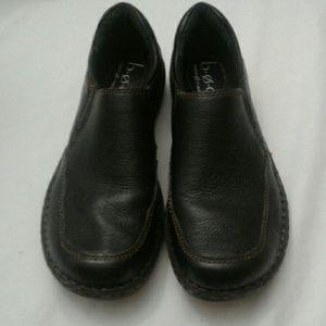 BOC Born Concept Black Leather Loafers  6.5